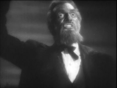 Raymond Massey as John Brown in Santa Fe Trail (1940)