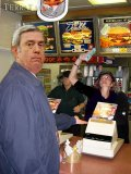 Dan Rather at Burger King